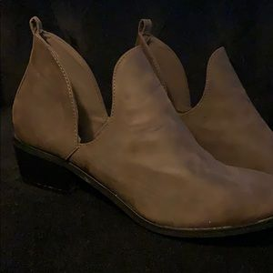 Brown Slip-On Ankle Boots
